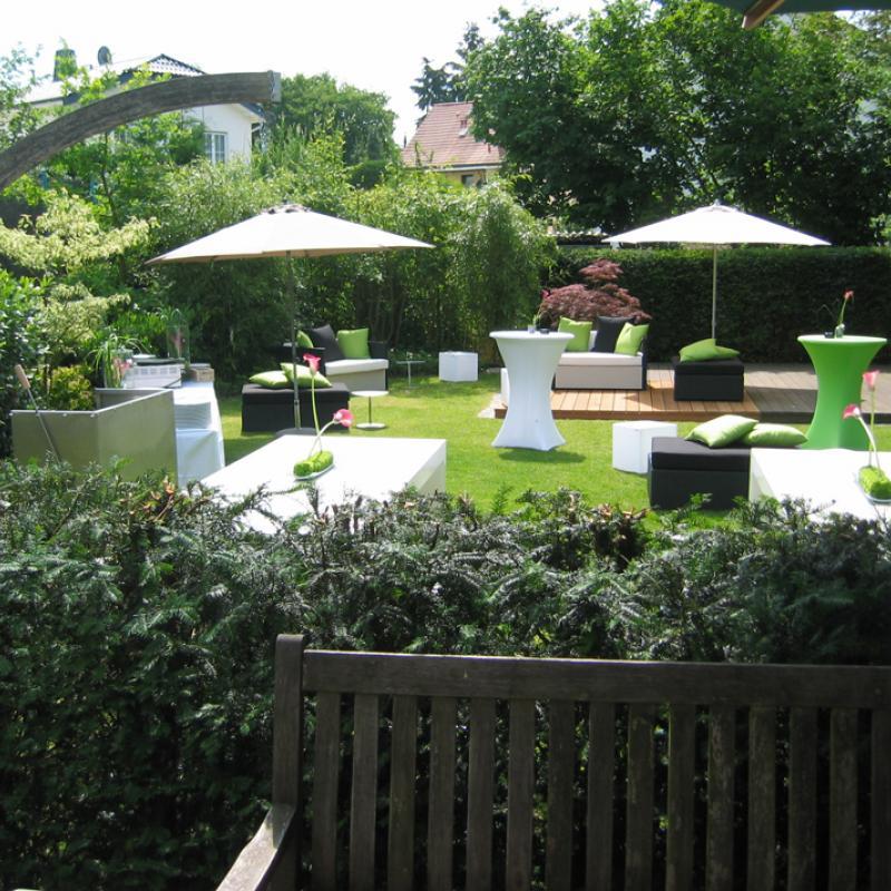 ..oder feiern Sie mit uns in Ihrem Garten | Messerich Catering
