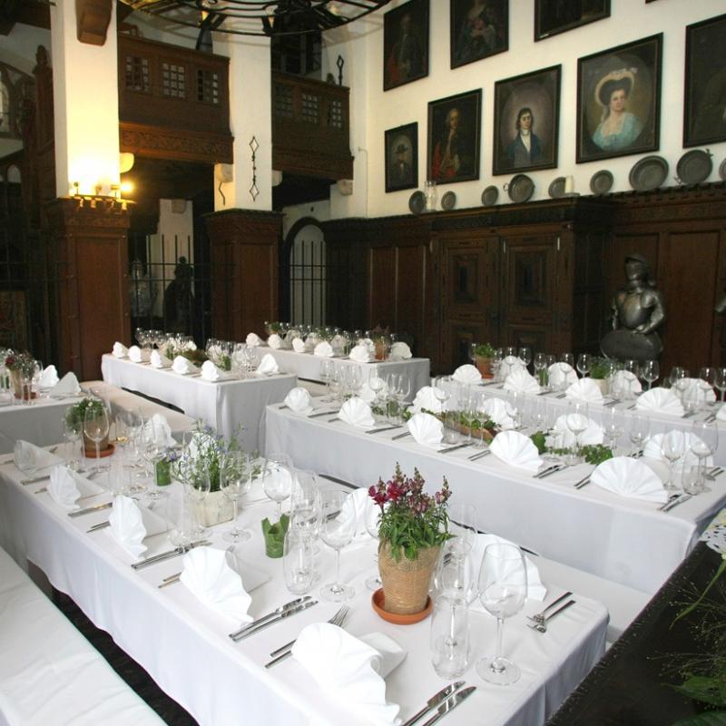 Raumeindeckung Burg Reichenstein im Mittelrheintal  | Messerich Catering