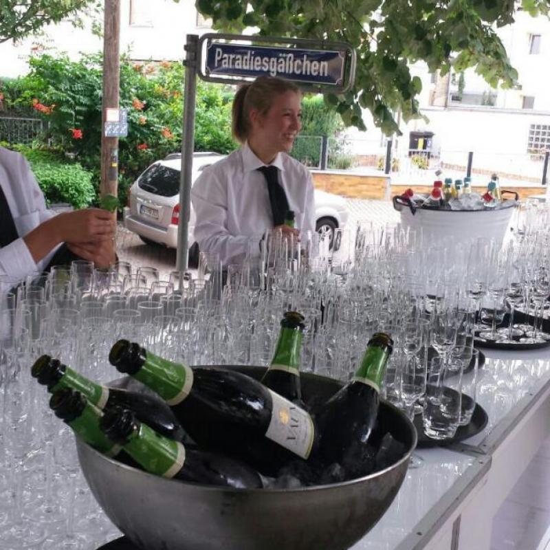 Sektempfang im Paradiesgäßchen, Wiesbaden | Messerich Catering