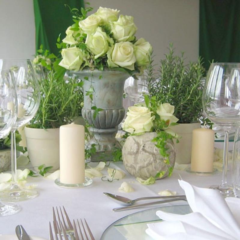 Glanzvoller Hochzeitstisch  | Messerich Catering