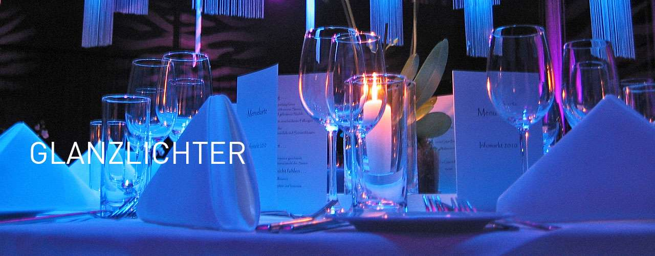 Glanzvoller Tisch