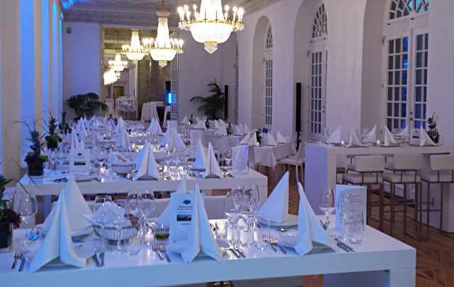 Messerich Catering, Saal eingedeckt